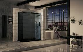 1200mm Shower Door Aquaglass 1200mm Tinted Sliding Shower Door Uk Bathroom Solutions