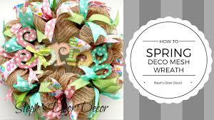 how to make a spring deco mesh wreath youtube