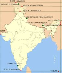 India Satellite Map by Map Extreme Points Of India Maps Of India