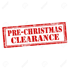 christmas clearance grunge rubber st with text pre christmas clearance vector