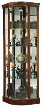 curio cabinet stunning curved corner curio cabinet image concept