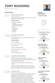 systems administrator resume samples visualcv resume samples