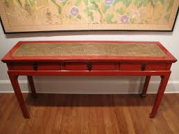 Restoration Hardware Console Table by Chinese Red Lacquer Console Table For Sale At 1stdibs