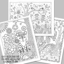 easy peasy coloring page colorful woodland coloring ebook easy peasy and fun