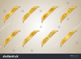 buy ribbon golden corner ribbon set best offer stock vector 279719369