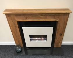 bonita traditional flueless gas fireplace with wooden surround