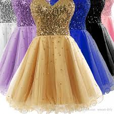 graduation dresses for high school stock sweetheart golden graduation dresses for 8th grade high