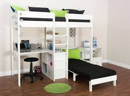 Bunk Bed With Desk And Futon Bunk Beds Stompa Uno Wooden High Sleeper With Futon Chair