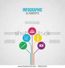 education infographics template 6 step option imagem vetorial de
