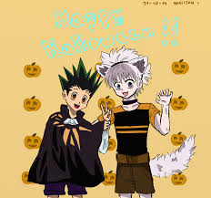 anime happy halloween happy halloween gon and killua by nakiisan on deviantart
