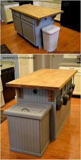 charming kitchen trash can ideas diy table bench with back wall