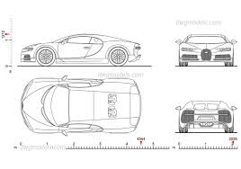 bugatti drawing bugatti chiron dimensions 2d model free cad dwg download