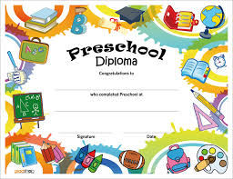 printable preschool diploma work infants prek pinterest