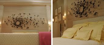 chambre gossip diy déco murale type gossip envolée de papillons