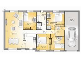 plan de maison plain pied 4 chambres plans de maison modèle family maison traditionnelle de plain