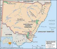 map of new south wales new south wales flag facts maps points of interest