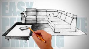 Couch Drawing How To Draw Furniture Easy Perspective Drawing 12 Youtube