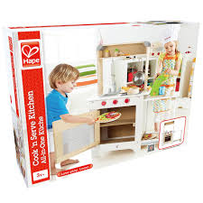hape cook n serve kitchen children wooden pretend play set with