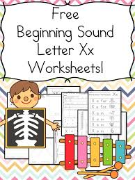 beginning sounds letter x worksheets free and fun