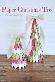 paper christmas tree decor tutorial darice