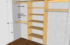 Average Height Of A Chair Rail Closet Shelving Layout U0026 Design Thisiscarpentry
