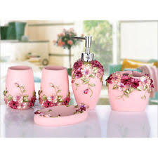 Pink Bathroom Accessories Sets by Pink Bathroom Accessories Set Ebay
