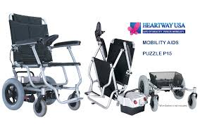 heartway p15s puzzle portable folding electric wheelchair