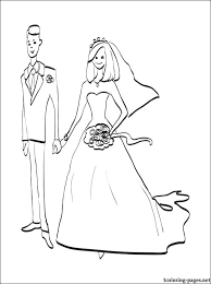 bride groom coloring coloring pages