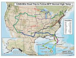 Gang Map Do You Want 80 Degree Weather Year Round Take This 10 000 Mile