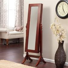 Home Interior Mirror Decorating Jewelry Cheval Mirror With Wooden Floor And Curtains