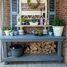 cool diy garden potting table ideas