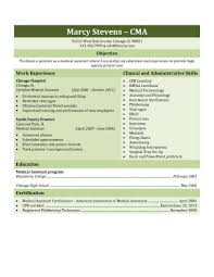 Objective In Resume Samples by 16 Free Medical Assistant Resume Templates