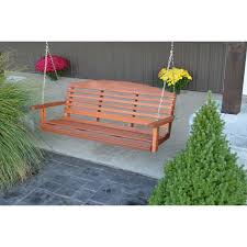 furniture interesting western red cedar porch swing made of
