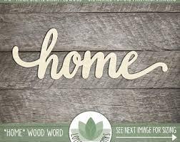 wood words etsy