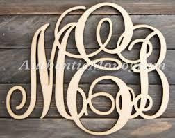 Monogram Letters Home Decor Monogram Wall Letter Etsy