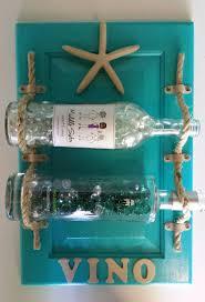 Beach Shabby Chic by Beach Themed Hanging Wine Rack Aqua Wine Rack Cabinet Door Redo