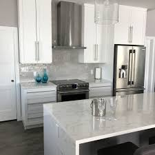 waterfall island kitchen luxury granite quartz u0026 marble countertops