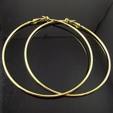 s gold earrings 24 pairs 80mm gold hoop earrings big circle earring promotion