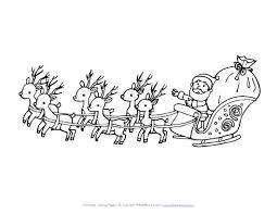 christmas reindeer sleigh coloring pages