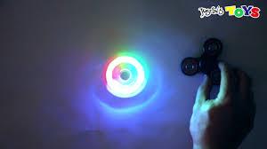 fidget spinner light up blue led light up fidget spinner coolest new design youtube
