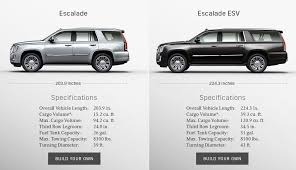 cadillac escalade pictures cadillac 2018 escalade suv esv build your own selector
