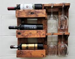 barn wood wine rack etsy