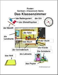 german poster classroom items abcteach
