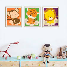 Aliexpresscom  Buy New Animals Nursery Canvas Wall Pictures Oil - Canvas art for kids rooms