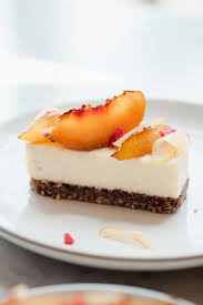 peach car caramelized peach cheesecake now forager