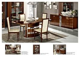 roma dining set walnut table and 6 chairs dining sets esf