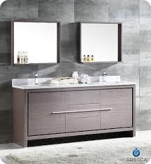 Designer Vanities For Bathrooms Fresca Allier 72 Gray Oak Modern Sink Bathroom Vanity W