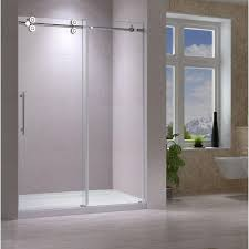 sk frameless sliding bathtub shower doors 60 x66 hb kitchen