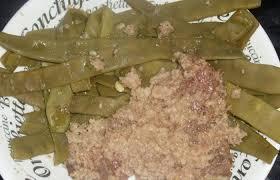 cuisiner les haricots plats coeur de veau en chapelure et sa garniture de haricots plats