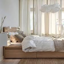 malm bed frame high w 2 storage boxes white lur 246 y malm high bed frame 2 storage boxes white stained oak veneer luröy